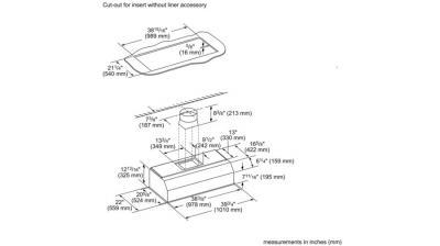 "42"" Thermador Professional Custom Insert, Optional Blower - VCIN42GWS"