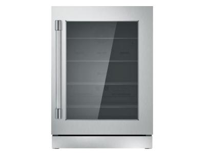 "24"" Thermador Under-Counter Glass Door Refrigerator - T24UR920RS"