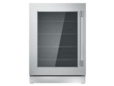 """24"""" Thermador Under-Counter Glass Door Refrigerator - T24UR920LS"""