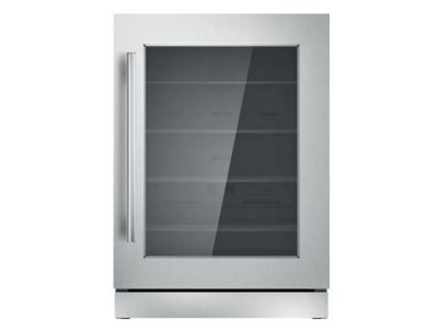 "24"" Thermador Under-Counter Glass Door Refrigerator - T24UR910RS"