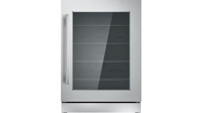 "24"" Thermador Under-Counter Glass Door Refrigerator - T24UR910RS"