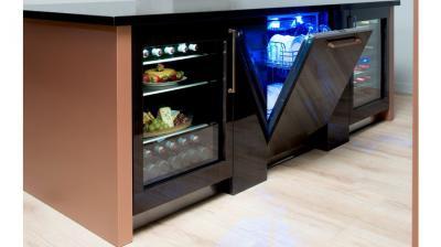 """24"""" Thermador Under-Counter Glass Door Refrigerator - T24UR900RP"""