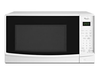 "18"" Whirlpool® 0.7 cu. ft. Countertop Microwave with Electronic Touch Controls - WMC10007AW"