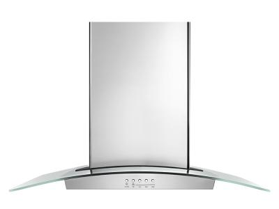 "30"" Whirlpool Convertible Glass Kitchen Ventilation Hood with Glass Edge LED Lighting - WVW75UC0DS"