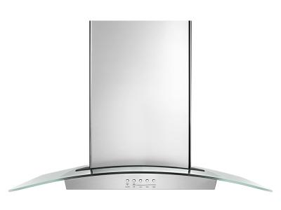 "36"" Whirlpool Convertible Glass Kitchen Range Hood with Quiet Partner Blower - WVW75UC6DS"