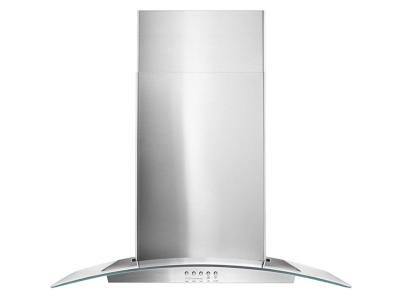 "30"" Whirlpool Concave Glass Wall Mount Range Hood - WVW51UC0FS"
