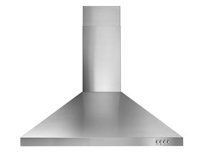 "30"" Whirlpool Contemporary Stainless Steel Wall Mount Range Hood - WVW53UC0FS"