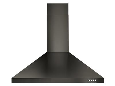 "30"" Whirlpool Contemporary Black Stainless Wall Mount Range Hood - WVW53UC0HV"