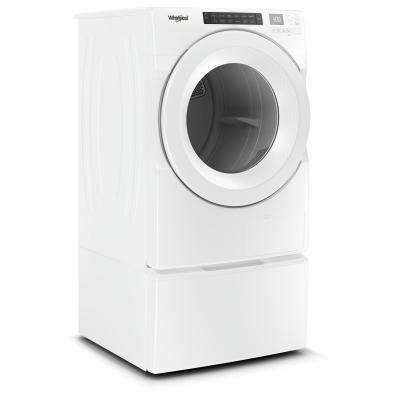 """27"""" Whirlpool 7.4 Cu. Ft. Front Load Heat Pump Dryer With Intiutitive Touch Controls - YWHD560CHW"""