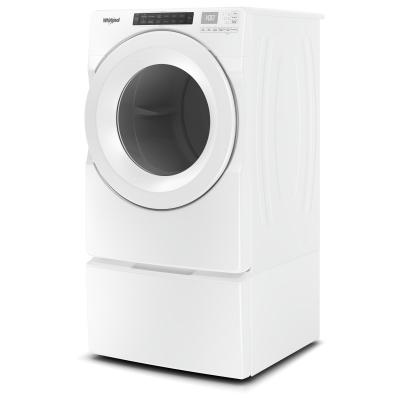"""27"""" Whirlpool 7.4 cu.ft Front Load Electric Dryer with Intiutitive Touch Controls - YWED5620HW"""