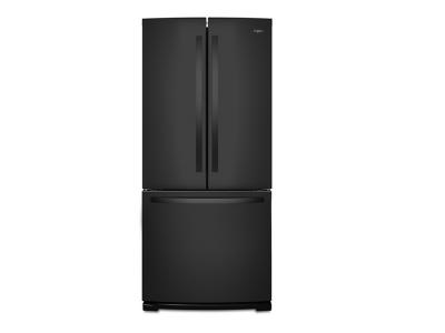 "30"" Whirlpool Black French Door Refrigerator  - WRF560SFHB"