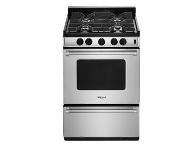 "24"" Whirlpool  Freestanding Gas Range with Sealed Burners WFG500M4HS"