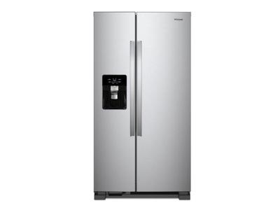 "35"" Whirlpool refrigerator/freezer-side-by-side-freestanding WRS335SDHM"