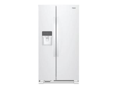 "35"" Whirlpool refrigerator/freezer-side-by-side-freestanding-white WRS335SDHW"