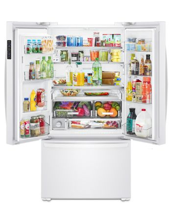 "36"" Whirlpool  Wide Counter Depth French Door Refrigerator - 24 cu. ft. - WRF954CIHW"