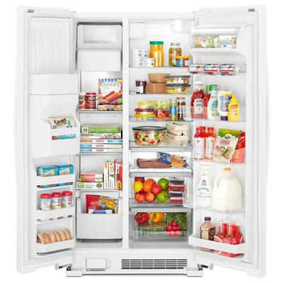 """33"""" Whirlpool  174 Side-by-Side Refrigerator - 21 cu. ft. - WRS321SDHW"""