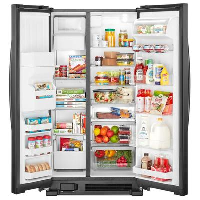 "33"" Whirlpool  174  Side-by-Side Refrigerator - 21 cu. ft. - WRS321SDHB"