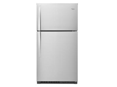 "33"" Whirlpool® Top-Freezer Refrigerator with Optional EZ Connect Icemaker Kit - WRT541SZDM"