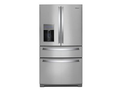 "36"" Whirlpool 4-Door Refrigerator with Exterior Drawer - 26 cu. ft. - WRX986SIHZ"