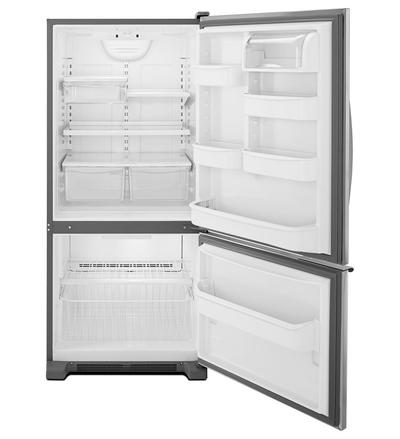 whirlpool 19 cu. ft. Bottom-Freezer Refrigerator WRB119WFBW