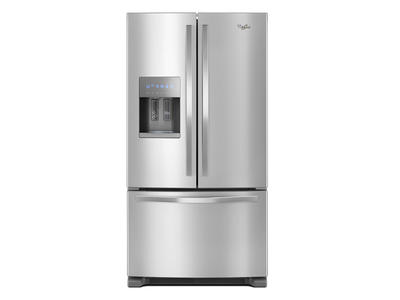 "36"" Whirlpool French Door Refrigerator in Fingerprint-Resistant Stainless Steel - 25 cu. ft. - WRF555SDFZ"