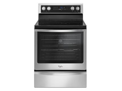 """30"""" Whirlpool 6.4 Cu. Ft. Freestanding Electric Range With True Convection - YWFE745H0FS"""