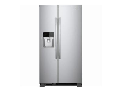 "33"" Whirlpool side-by-side refrigerator/freezer WRS331SDHM"