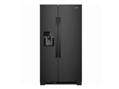 "33"" Whirlpool refrigerator/freezer side-by-side-freestanding WRS331SDHB"