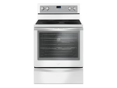 """30"""" Whirlpool 6.4 Cu. Ft. Freestanding Electric Range With True Convection - YWFE745H0FH"""
