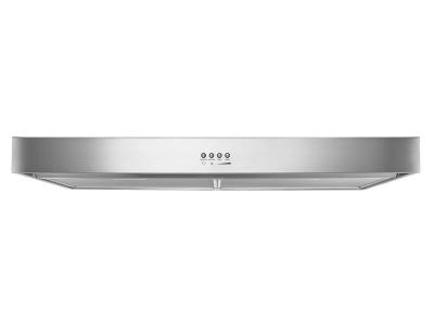 "30"" Whirlpool Range Hood with Dishwasher-Safe Full-Width Grease Filters - WVU37UC0FS"