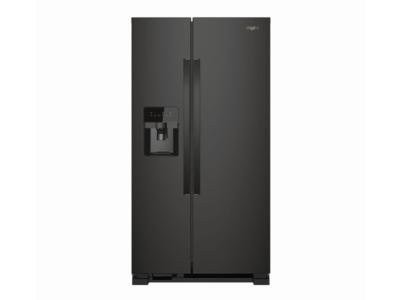 "35"" Whirlpool refrigerator/freezer-side-by-side-freestanding WRS335SDHB"