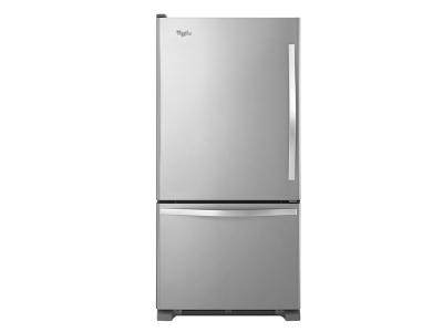 "30"" Whirlpool 19 cu. ft. Bottom-Freezer Refrigerator with Freezer Drawer - WRB329LFBM"