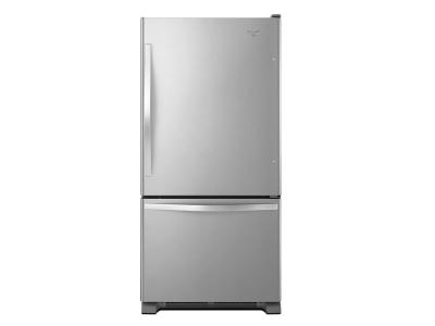 "30"" Whirlpool 19 cu. ft. Bottom-Freezer Refrigerator with Freezer Drawer - WRB329RFBM"