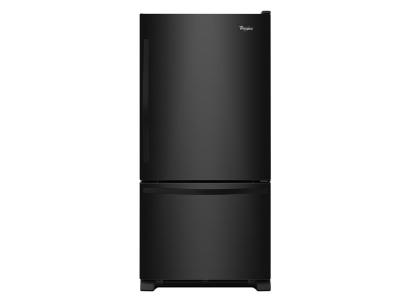 "30"" Whirlpool 19 cu. ft. Bottom-Freezer Refrigerator with Freezer Drawer - WRB329DFBB"