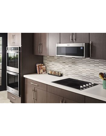 """30"""" Whirlpool 10.0 cu. ft. Smart Double Wall Oven with True Convection Cooking - WOD77EC0HS"""