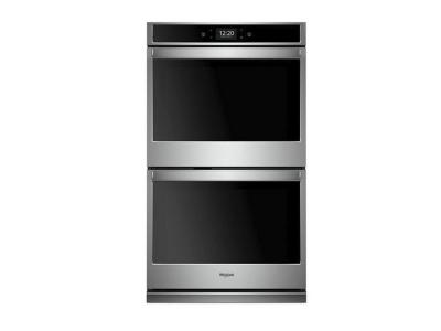 "27""  Whirlpool 8.6 cu. ft. Smart Double Wall Oven with True Convection Cooking - WOD77EC7HS"