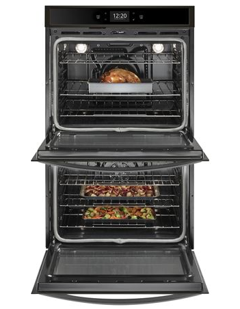 """27"""" Whirlpool 8.6 cu. ft. Smart Double Wall Oven with True Convection Cooking - WOD77EC7HV"""
