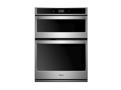 """30"""" Whirlpool 6.4 Cu. Ft. Smart Combination Wall Oven With Touchscreen - WOC75EC0HS"""