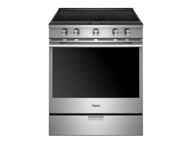 "30"" Whirlpool 6.4 Cu. Ft. Smart Contemporary Handle Slide-in Electric Range with Frozen Bake Technology - YWEEA25H0HZ"