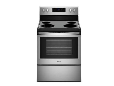 "30"" Whirlpool 5.3 cu. ft. guided Electric Freestanding Range with True Convection Cooking - YWFE521S0HS"