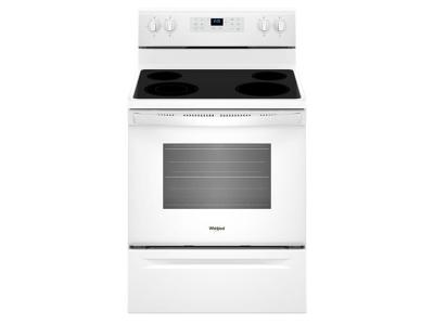 "30"" Whirlpool 5.3 cu. ft. guided Electric Freestanding Range with True Convection Cooking - YWFE521S0HW"