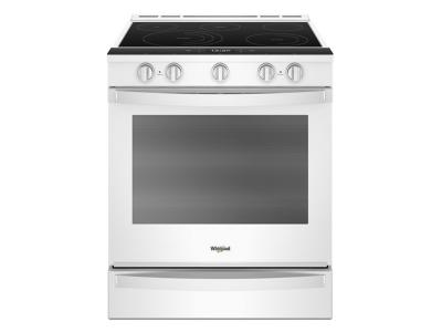 "30"" Whirlpool 6.4 Cu. Ft. Smart Slide-in Electric Range with Frozen Bake Technology - YWEE750H0HW"