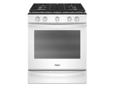 "30"" Whirlpool 5.8 Cu. Ft. Smart Slide-in Gas Range  - WEG750H0HW"