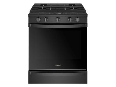 "30"" Whirlpool 5.8 Cu. Ft. Smart Slide-in Gas Range - WEG750H0HB"