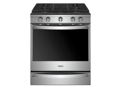 "30"" Whirlpool 5.8 Cu. Ft. Smart Slide-in Gas Range with EZ-2-Lift  8482  Hinged Cast-iron Grates1 - WEG750H0HZ"