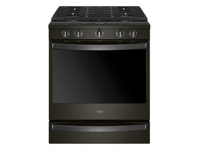 "30"" Whirlpool 5.8 Cu. Ft. Smart Slide-in Gas Range with EZ-2-Lift  8482  Hinged Cast-iron Grates1 - WEG750H0HV"
