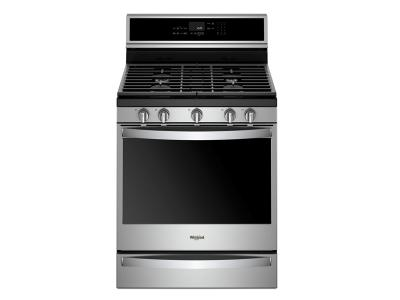 Whirlpool 5.8 Cu. Ft. Smart Freestanding Gas Range with EZ-2-Lift  Grates - WFG975H0HZ