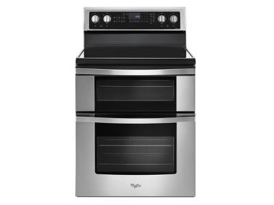 "30"" Whirlpool 6.7 Cu. Ft. Electric Double Oven Range with True Convection - YWGE745C0FS"