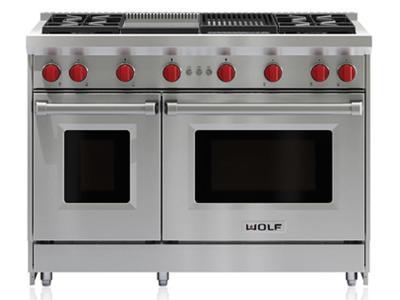 "48"" Wolf Pro-Style Freestanding Gas Range - GR484CG-LP"