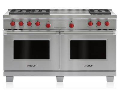 "60"" Wolf Dual Fuel Range 6 Burners and French Top DF606F - DF606F"